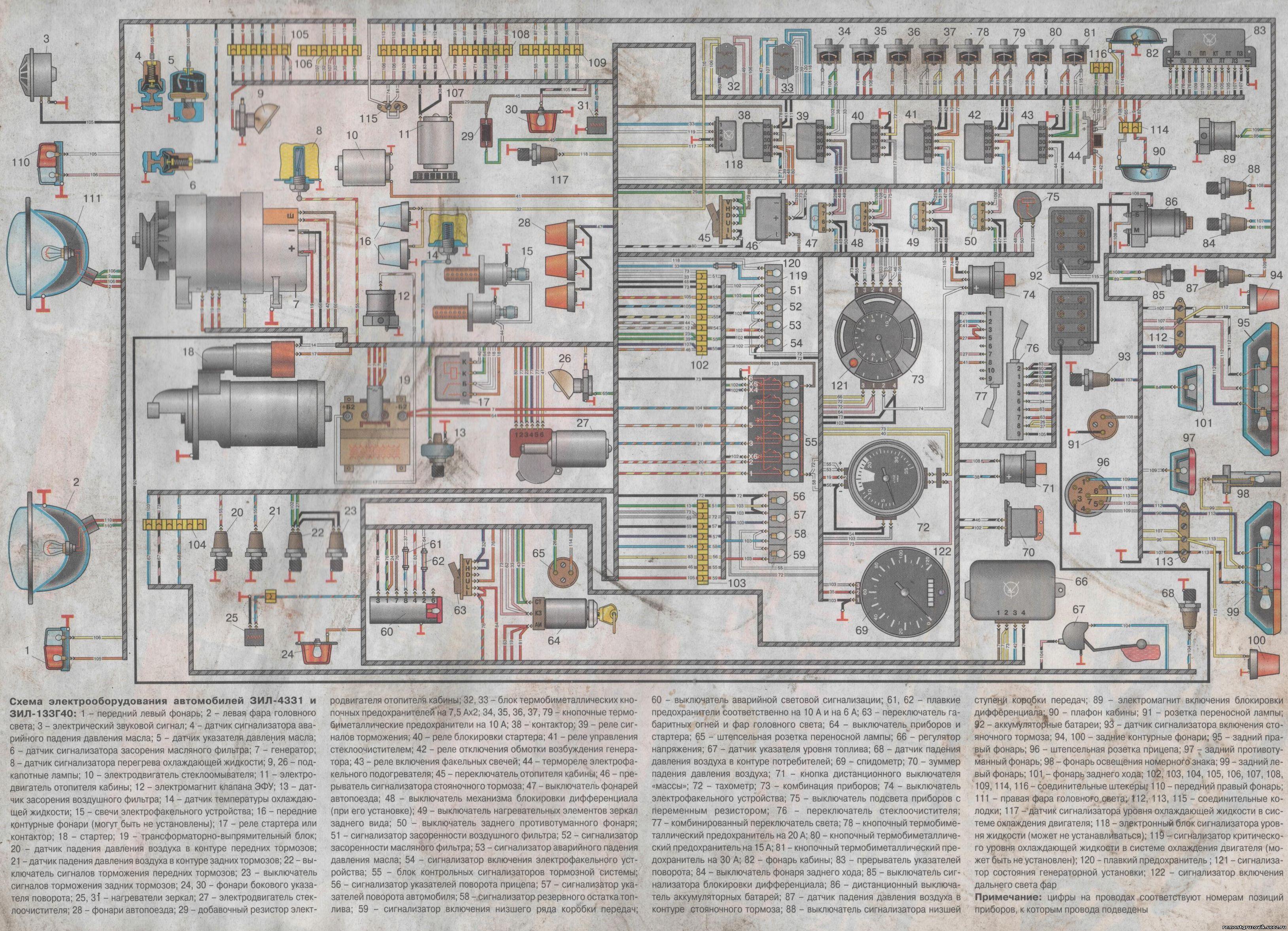 Схема электронного спидометра зил