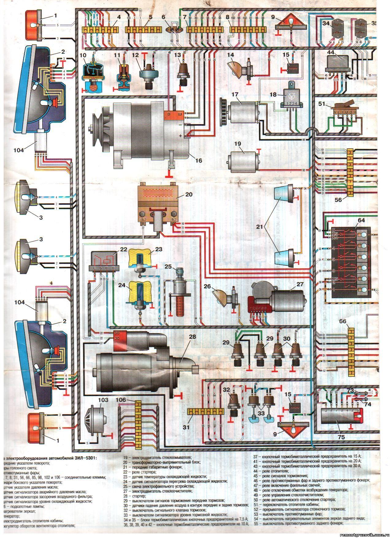 переключение передач на зил 4331 схема