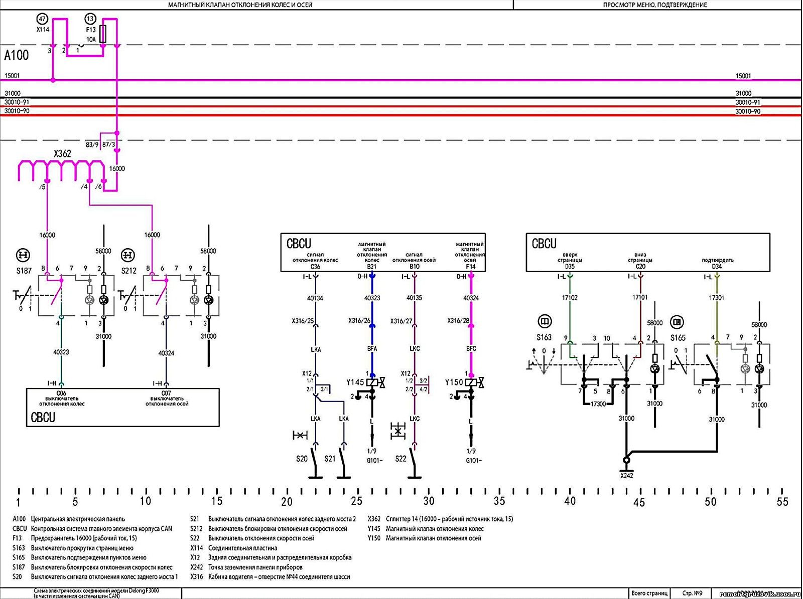 Грузовик shaanxi sx1267jt484 схема электрич горного тормоза