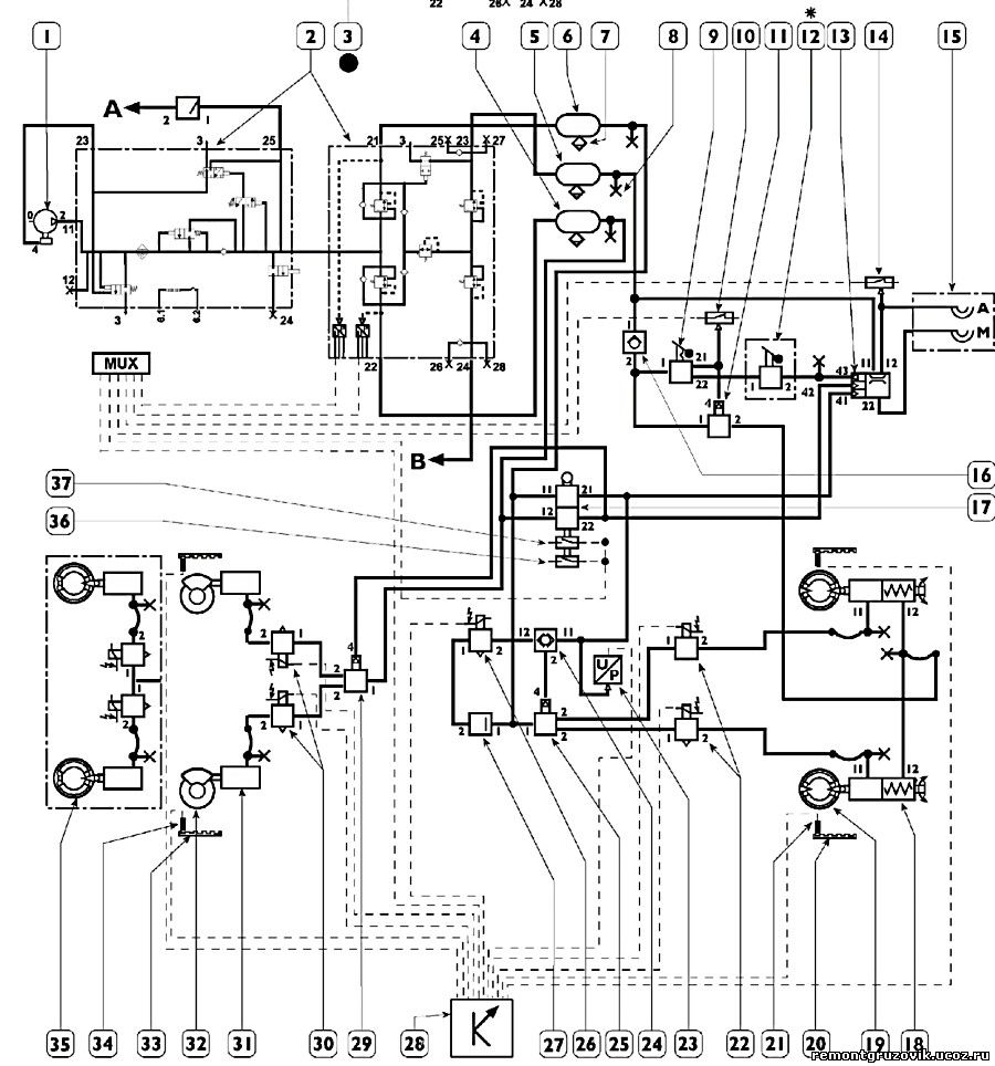 Гидравлический распределитель МРС70.4