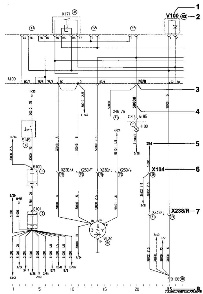 электрических схем MAN. 1
