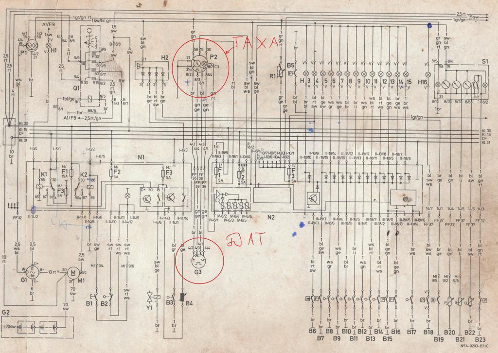 На примере электросхемы MAN