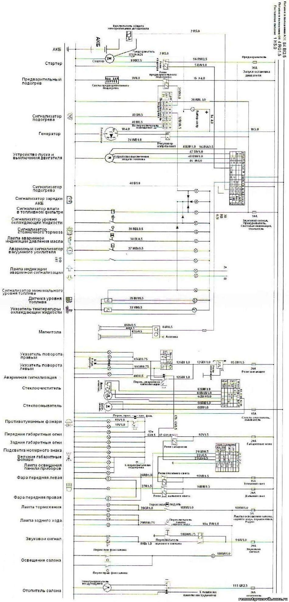 электрическая монтажная схема коробки