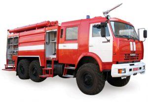 Пожарный автомобиль AЦ-40-235, на базе КамАЗ