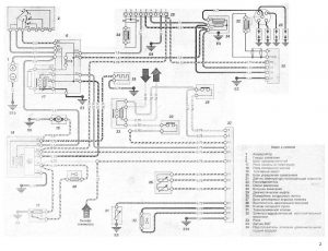 Схемы электрических соединений Mercedes-Benz 190, 190E & 190D: