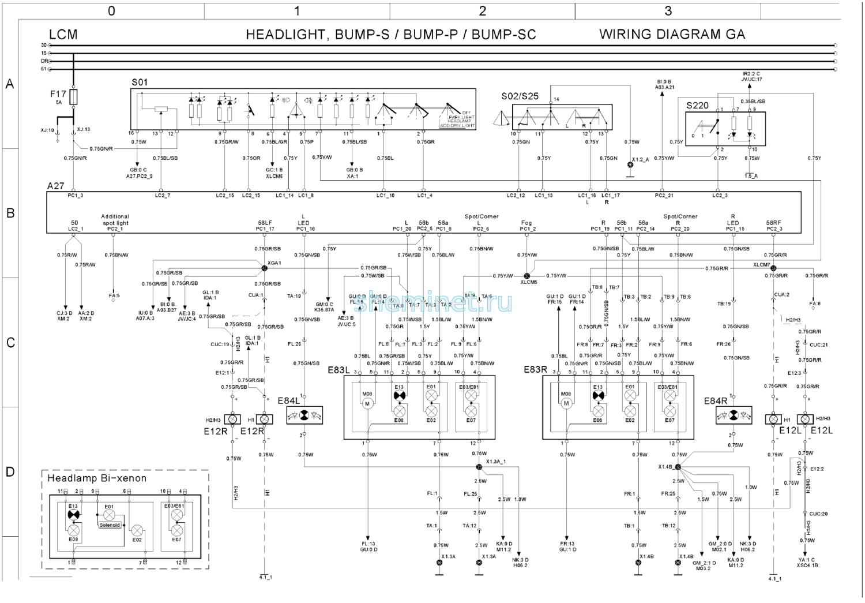электрическая схема LCM (20427169-01 )